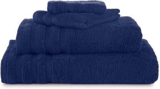 blue towel set