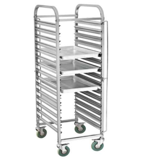 Food cart trolley with tray