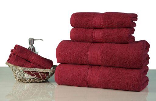 maroon towel set