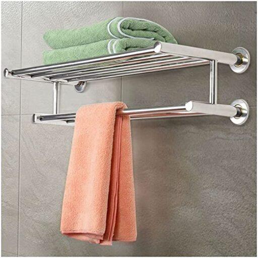 Stainless steel towel rack