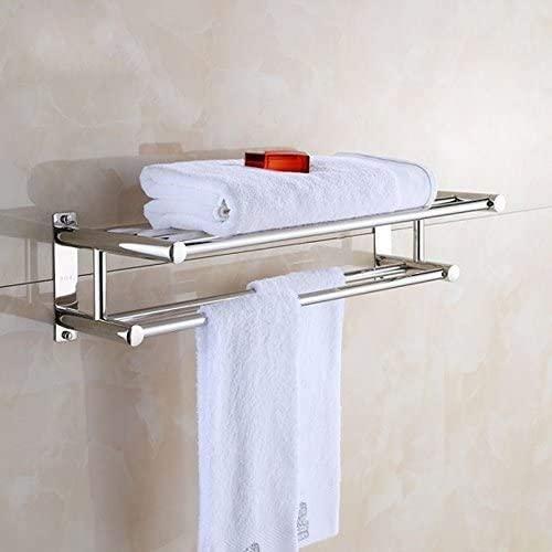 Stainless steel towel rack white